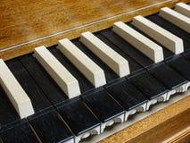 Harpsichord. Closeup of a harpsichord keyboard Stock Photography