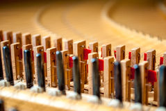 Harpsichord from the inside Royalty Free Stock Image
