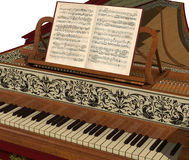 Harpsichord Keyboard Royalty Free Stock Photo