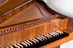 Harpsichord Keyboard royalty free stock image