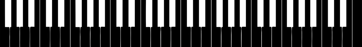 Harpsichord keyboard silhouette Stock Photos