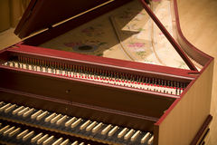Harpsichord in philharmonic Stock Image