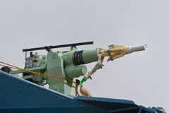 Harpune der japanischen Walfanglieferung Yushin Maru Lizenzfreies Stockfoto