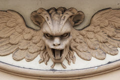 Harpy devil. In building of florence Royalty Free Stock Photo