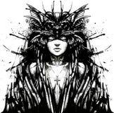 Harpy med härligt vektor illustrationer