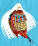 Harpy with white hair - mythological creature Stock Image