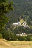 Harrachov. Huts in the valley Krkonose Stock Photo
