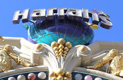 Harrah's casino sign. Harrah's hotel and casino sign in Las Vegas Stock Photos