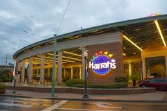Harrah-` s Kasino in im Stadtzentrum gelegenem New Orleans stockfoto