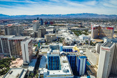 Harrah's, Mirage, Caesars Palace, Flamingo and LINQ Hotel and Casinos Stock Photography