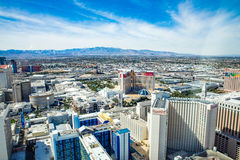 Harrah's, Mirage, Caesars Palace, Treasure Island and LINQ Hotel and Casinos Stock Photography
