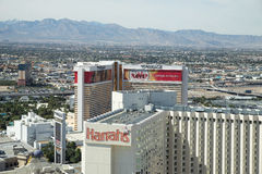 Harrah's and The Mirage Hotel and Casino, Las Vegas Royalty Free Stock Photography