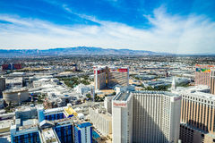 Harrah's, Mirage, Treasure Island and LINQ Hotel and Casinos Stock Photos