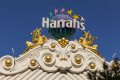Harrahs Hotel Sign in Las Vegas, NV on June 26, 2013 Stock Image