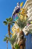 Harrahs hotell och kasino undertecknar in Las Vegas Arkivfoton