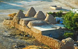 Harran Adobe House. Harran was a major ancient city in Assyria- Upper Mesopotamia whose site is near the modern ....Harran is famous for its traditional & x22 Royalty Free Stock Image