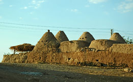 Harran Adobe House. Harran was a major ancient city in Assyria- Upper Mesopotamia whose site is near the modern ....Harran is famous for its traditional & x22 Stock Image