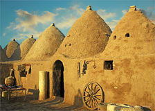 Harran Adobe House. Harran was a major ancient city in Assyria- Upper Mesopotamia whose site is near the modern ....Harran is famous for its traditional & x22 Royalty Free Stock Photography