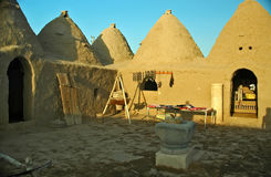 Harran Adobe House. Harran was a major ancient city in Assyria- Upper Mesopotamia whose site is near the modern ....Harran is famous for its traditional & x22 Stock Photography