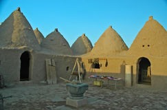 Harran Adobe House. Harran was a major ancient city in Assyria- Upper Mesopotamia whose site is near the modern ....Harran is famous for its traditional & x22 Royalty Free Stock Images