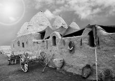 Harran traditionella hus Arkivbilder
