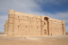Harrana castle. Insulated building in the middle of the Jordanian desert, Used as a castle and Palace stock photography