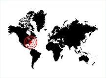 Harricane Sandy aux Etats-Unis illustration stock
