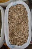 harricot, Läufer oder Gartenbohnen in der Baumwolle bauschen sich in Basarantalya-Truthahn Stockfotografie