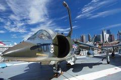 Harrier d'AV8C au musée d'Interpid image stock
