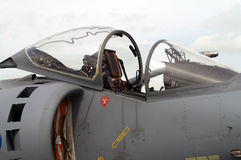 Harrier GR7. Close up of Harrier GR7 cockpit Royalty Free Stock Photography
