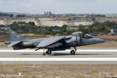 Harrier Taxiing for lift off. Royalty Free Stock Photography