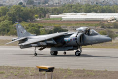 Harrier Taxiing for lift off. Royalty Free Stock Photo
