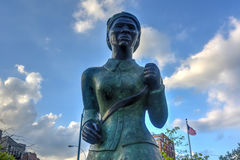 Harriet Tubman Memorial Statue -  Harlem, New York. Harriet Tubman Memorial Statue in Harlem, New York. Harriet Tubman was an African-American abolitionist and Stock Image