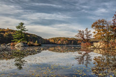 Harriman State Park in autumn Stock Image
