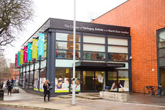 harringey埃菲尔德和北部东部伦敦学院  免版税库存图片