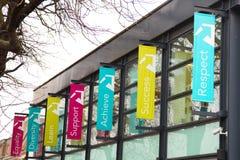 harringey埃菲尔德和北部东部伦敦学院  免版税库存照片
