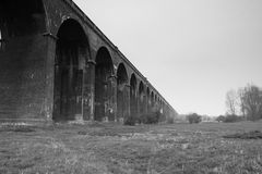 Harringworth or Welland Viaduct, Northamptonshire Stock Image
