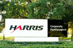 Harris Corporate Headquarters Sign fotografia stock