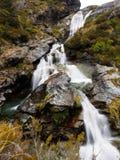 Harris Falls, Routeburn-Spoor, Nieuw Zeeland Stock Foto