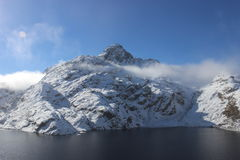 Harris Lake on Routeburn track. Absolutely beautiful view at Routeburn track during the winter season Stock Photography