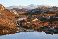 Harris Landscape. Mountain view from 'The Golden Road', Isle of Harris, Outer Hebrides Stock Image