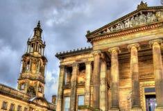 Harris Museum e a casa das sessões em Preston fotos de stock royalty free