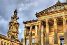 Harris Museum et la Chambre de sessions en Preston photos libres de droits