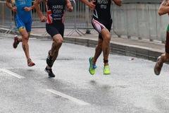 Harris and Petsov running Stock Photo