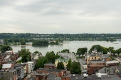 Harrisburg Cityscape i Pennsylvania Fotografering för Bildbyråer