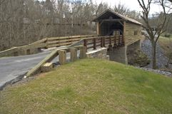 Harrisburg Covered Bridge. Sevier County, Tennessee royalty free stock photo