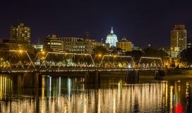 Harrisburg Downtown Night Stock Image
