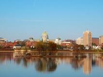 Harrisburg Pennsylvania en el río Foto de archivo libre de regalías