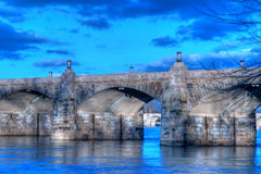 Harrisburg Pennsylvania Market Street Bridge Royalty Free Stock Images