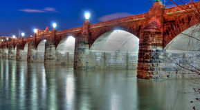 Harrisburg Pennsylvania Market Street Bridge Stock Photo